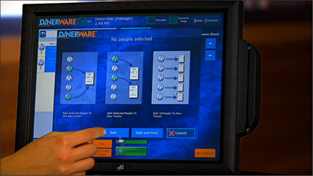 Dinerware-POS-Screen-4-18-11. TouchBistro_Authorized_Dealer & Software - Pearl Computer Solutions